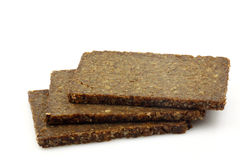 Three slices of rye bread Royalty Free Stock Photos