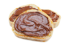 Chocolate Spread on Bread Stock Image