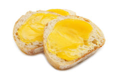 Bread with Lemon Curd Stock Image