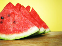 Three slices watermelon Stock Image