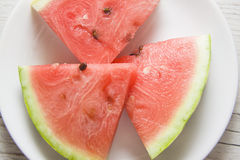 Three slices of watermelon Stock Photography