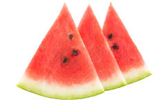 Three slices of watermelon Royalty Free Stock Image