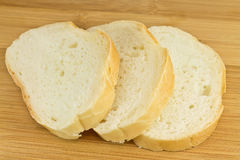 Three slices of wheat bread Royalty Free Stock Photos