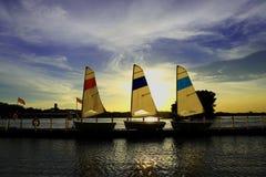 Three Small boat Royalty Free Stock Photo