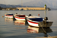 Three small boats Royalty Free Stock Photos