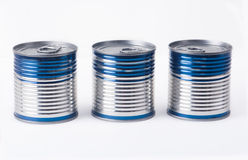 Three small cans Royalty Free Stock Photos