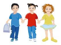 Three small children happy Stock Photos