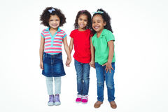 Three small girls standing together Royalty Free Stock Photos