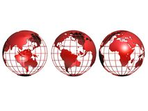 Three small globes Royalty Free Stock Photo