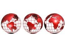 Three small globes Royalty Free Stock Photo
