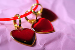 Three small hearts Royalty Free Stock Images
