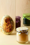 Easter treats and decorative egg Stock Photography