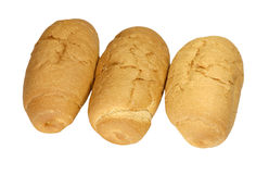 Three small loaf of bread Royalty Free Stock Image