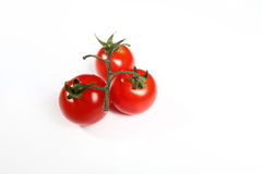 Three small tomatoes Stock Photography