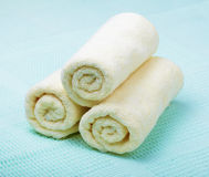 Three small towels Stock Images