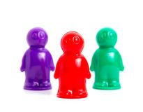 Three small toy businessmans Royalty Free Stock Image