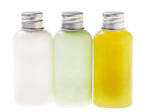 Isolated Lotion Bottles Stock Photography