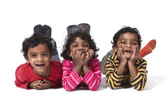 Three small twins Royalty Free Stock Photography