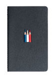 Three small used colored pencils Royalty Free Stock Images