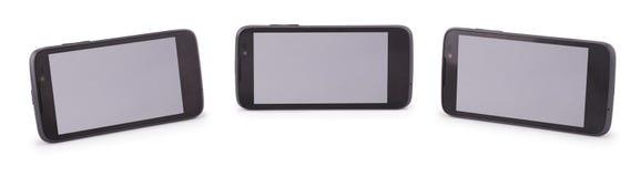 Three Smart Phone (Six clipping path) Royalty Free Stock Photo