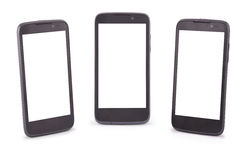 Three Smart Phone (Six clipping path) Royalty Free Stock Photography