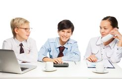 Three the smartest kids Stock Photography