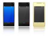 Three smartphone Royalty Free Stock Photography