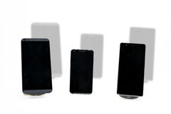 Three smartphones abstract composition. Royalty Free Stock Image