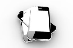 Three smartphones Stock Images