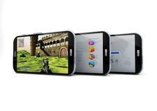Three smartphones Royalty Free Stock Photography