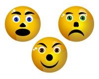 Three smiley Royalty Free Stock Photography