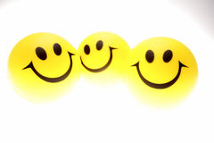 Three smiley faces Royalty Free Stock Photo