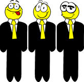 Three smiley happy business man Stock Photography