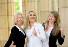Three smiling blond girls Royalty Free Stock Image