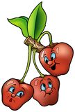 Three Smiling Cherry Stock Photos