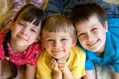 Three smiling children Royalty Free Stock Image