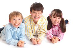 Three Smiling Children Stock Image