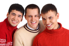 Three smiling friends Royalty Free Stock Photography