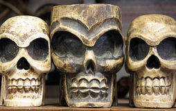 Three Smiling Skulls Stock Images