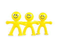 Three smiling toy Royalty Free Stock Image