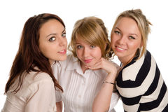 Three smiling young women Royalty Free Stock Image