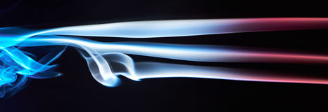 Three smoke lines Stock Images