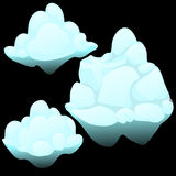 Three snow blocks, ice iceberg stock illustration