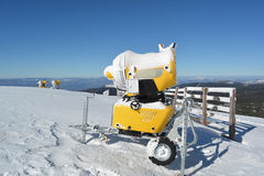 Three snow cannons Stock Photography