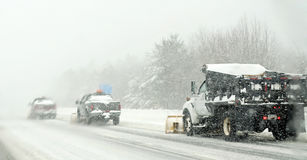 Snow plows Royalty Free Stock Photography