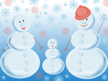 Three snowballs Stock Image