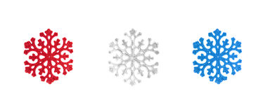 Three snowflakes Royalty Free Stock Photo