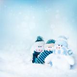 Three snowman Royalty Free Stock Photography