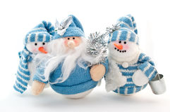 Three snowmans Royalty Free Stock Photography