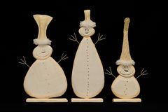 Three Snowmen Royalty Free Stock Photo